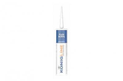 Konigline Eco Acryl Silicona acrílica blanca para puertas y ventanas