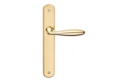 Luxor Serie Básica forma manija de la puerta en la placa Frosio Bartolo formas curvilíneas
