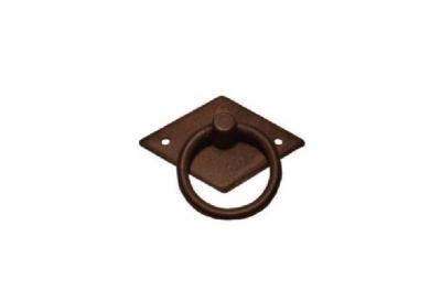 Manija de los muebles 028 Galbusera en arte del hierro labrado con el anillo