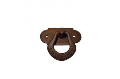 Manija de los muebles 038 Galbusera en arte del hierro labrado con el anillo