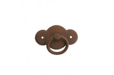 Manija de los muebles 057 Galbusera en arte del hierro labrado con el anillo
