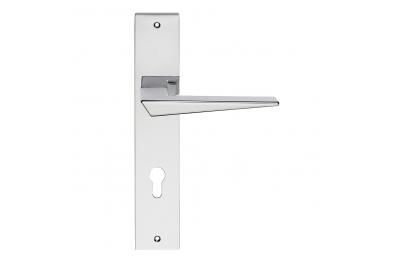 Serie formas Naxos manera maneta placa de la puerta de Frosio Bartolo Diseño esencial