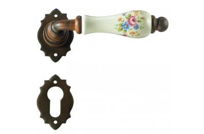 Manija de la puerta de París Galbraith con roseta y la boquilla