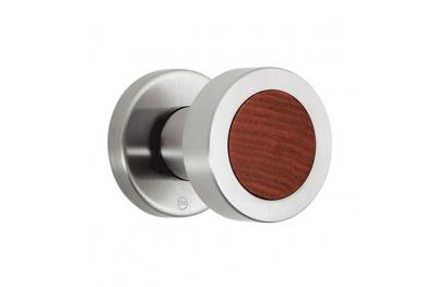 PBA 2092.YOD perillas de madera y acero inoxidable AISI 316L