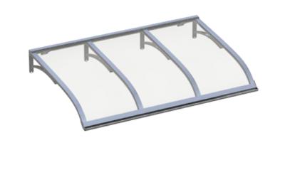 Refugio Vela de aluminio transparente Aluminio AMA Sun Protection