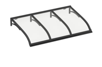 Vela Gris Shelter transparente Aluminio AMA Sun Protection