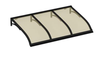 Refugio Vela Negro Aluminio Bronce AMA Sun Protection
