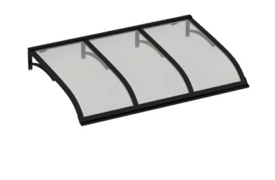 Refugio Vela Negro Gris Aluminio AMA Sun Protection