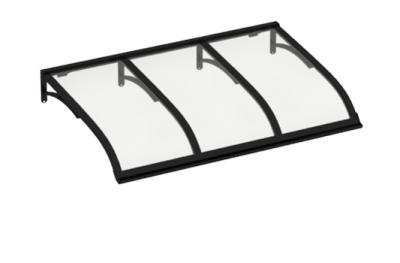 Refugio Vela Negro Transparente aluminio AMA Sun Protection