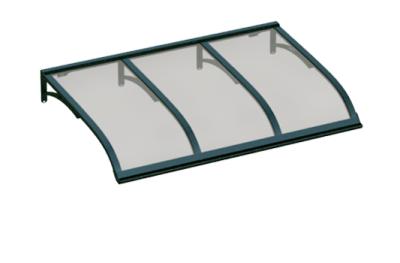 Refugio Vela Verde Gris Aluminio AMA Sun Protection
