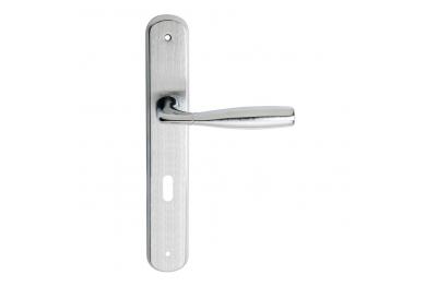 Philip Serie 2 Básico forma manija de la puerta en la placa Ajuste forma ergonómica Frosio Bartolo