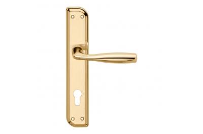 Philip Serie Básica forma manija de la puerta en la placa elegante irregular Frosio Bartolo