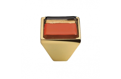 Mobile Linea Cali pomo de cristal BRERA LINEAL PB 23 OZ inserto de vidrio naranja
