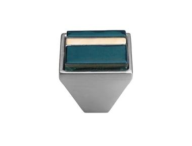 mando móvil Linea Cali Crystal BRERA LINEAL 31 PB CS insertar cristal azul