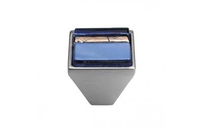 Mobile Linea Cali pomo de cristal BRERA LINEAL 32 PB CS insertar cristal azul