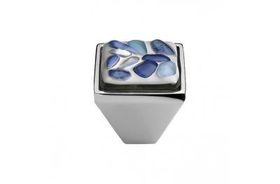 mando móvil Linea Cali Crystal BRERA STONE PB CR inserto 27 de cristal azul azul