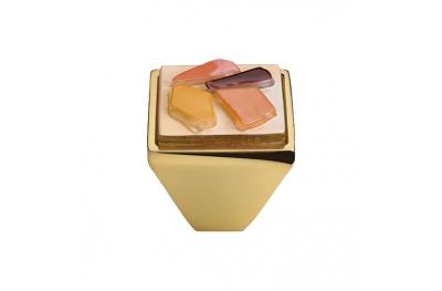 Mobile Linea Cali pomo de cristal BRERA STONE PB 33 OZ inserto de vidrio naranja
