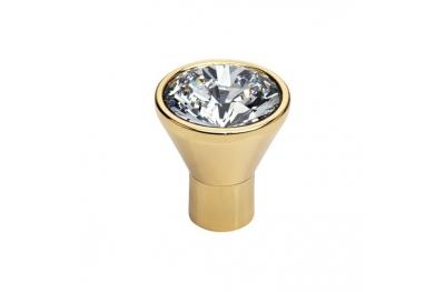 Mobile Linea Cali pomo de cristal de diamante OZ Swarowski® de oro puro