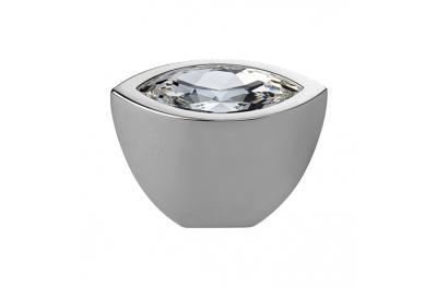 Pomo línea móvil Elipse Cali Cristal Cristal PB con Swarowski® cromo pulido