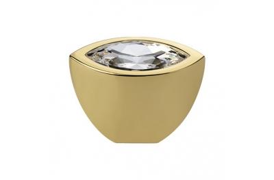 Pomo línea móvil Elipse Cali Cristal Cristal PB Swarowski® de oro puro