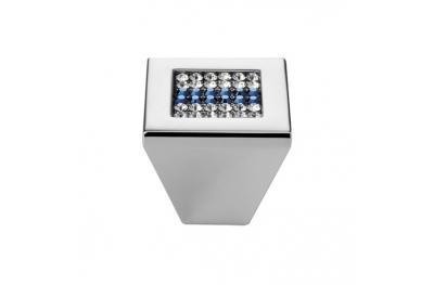 Mobile Linea Cali perilla Crystal Mesh azul PB con Chrome Swarowski® azul pulido