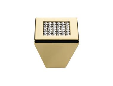 Pomo línea móvil Cali malla cristalina PB con cristales Swarowski® Oro Zecchino