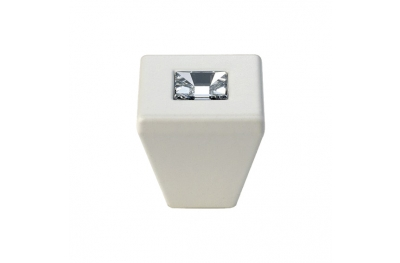 mando móvil Linea Cali Reflex PB con cristales Swarowski® Matt White