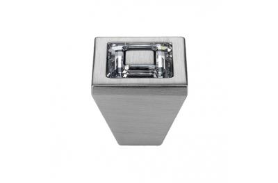 El Mando Linea Cali móvil de cristal anillo con cristales PB Swarowski® cromo satinado