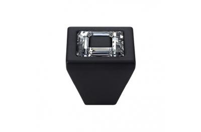 El Mando Linea Cali móvil de cristal anillo con cristales PB Swarowski® Matt Negro
