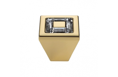 El Mando Linea Cali móvil de cristal anillo con cristales PB Swarowski® Oro Zecchino