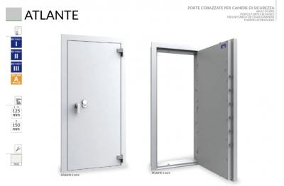 Puerta Blindada para Cámaras de Seguridad Caveaux y Atlante Bordogna