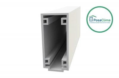 Perfil pequeño en caja de PVC extruido PosaClima transversal inferior