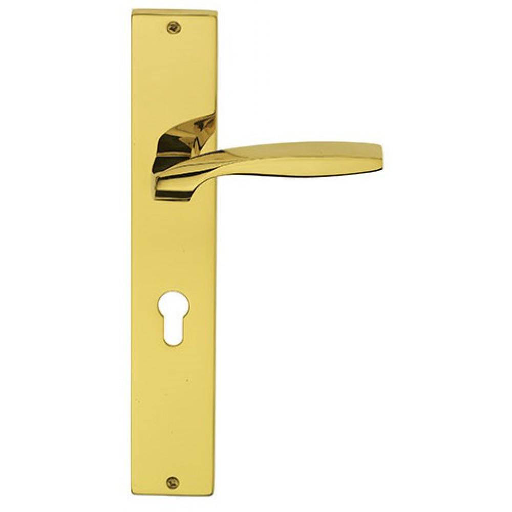 Quadrata Fashion Line PFS Pasini para manija de puerta de latón en la placa