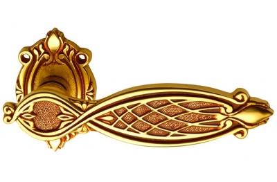 Ramsés Classique PFS Pasini para manija de puerta de latón con escarapela y la boquilla