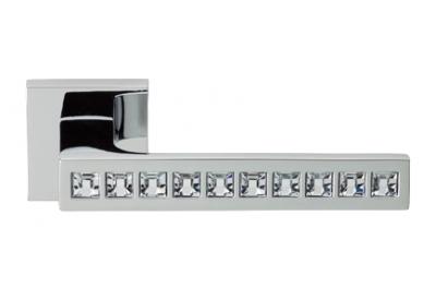 Reflex Cromo Brillo Manija de Puerta en Rosette Linea Calì Crystal