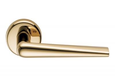 Robotre Gold Zirconium HPS - Tirador de puerta en roseta para proyectos de arquitectura de Colombo Design
