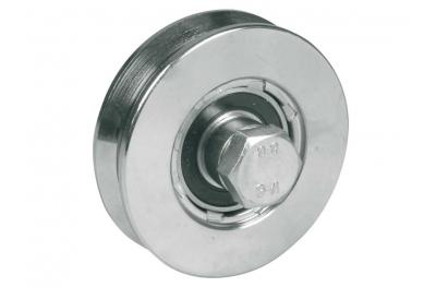 Rueda para puertas correderas 1 cojinete de bola Garganta V Varios diámetros IBFM