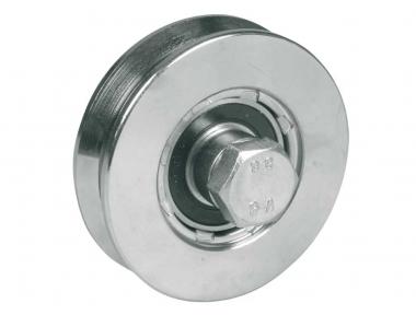 Rueda para puertas correderas 2 rodamientos de bolas Garganta V Varios diámetros IBFM