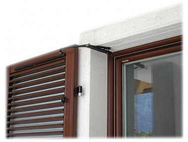 S TEL puerta doble 115-150cm 230Vac claroscuro en Shutters brazo oscilante