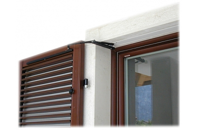 S TEL puerta doble 80-115cm 230Vac claroscuro en Shutters brazo oscilante