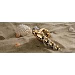 Shell Mesh Oro Brillo Manija de Puerta en Rosette Linea Calì Crystal