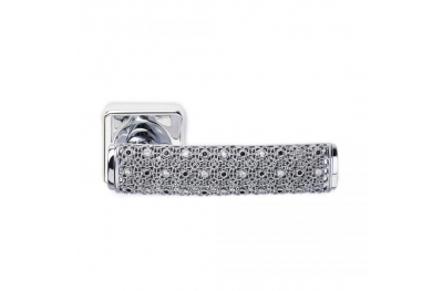 Sueño de plata 2 tirador de puerta de la joyería PFS Pasini con Rosetta y la boquilla