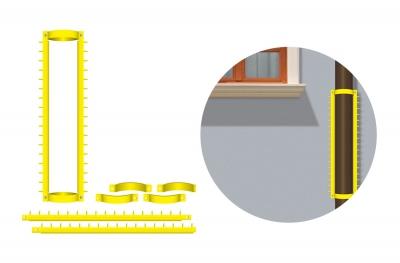Bolardo de Grimpo del componente de la Anti-intrusión de la barrera con las extremidades para los balcones y las paredes de Cornices