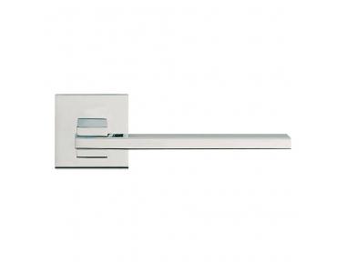 Delgado pulido manija de puerta del cromo en la roseta con el montaje ultra-Click-Clack Linea Cali Diseño