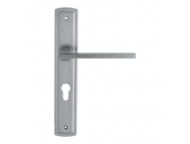 Slim Door Handle on Plate by Linea Calì Tirador de Puerta en Placa