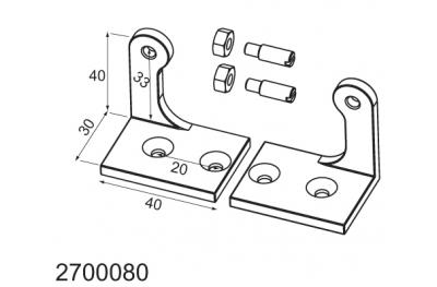 Inclinación de soporte para aplicaciones de palet MANERA Mingardi