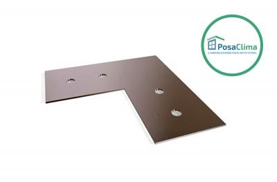 Placa de alineación en acero galvanizado para contramarco Klima Pro PosaClima