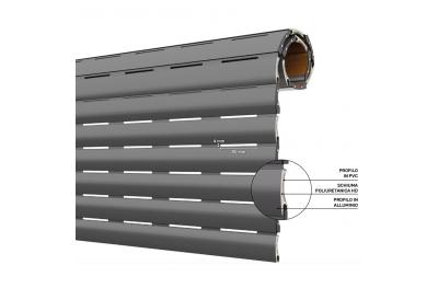 Obturador aislado de aluminio y PVC AriaLuceTherm para aire y luz