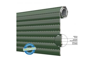 Persiana Duero 55 Persiana enrollable de bajo consumo de PVC y Aluminio