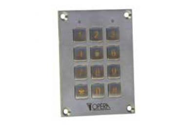 Teclado antivandálica Código de Control de Acceso 55612SS Serie Acceso Opera